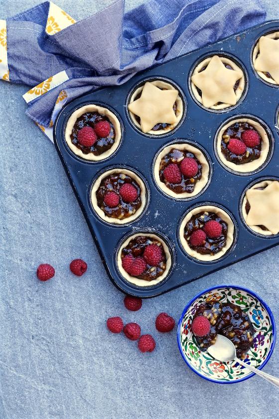 raspberry mince pies